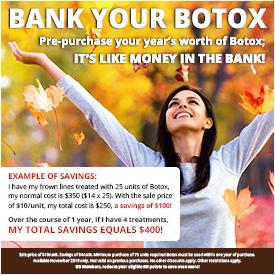 Bank Your Botox