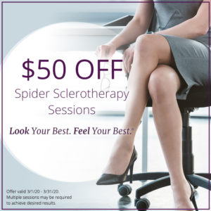 $50 OFF Spider Sclerotherapy