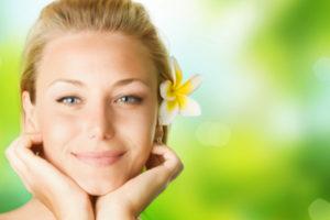 smiling spa woman