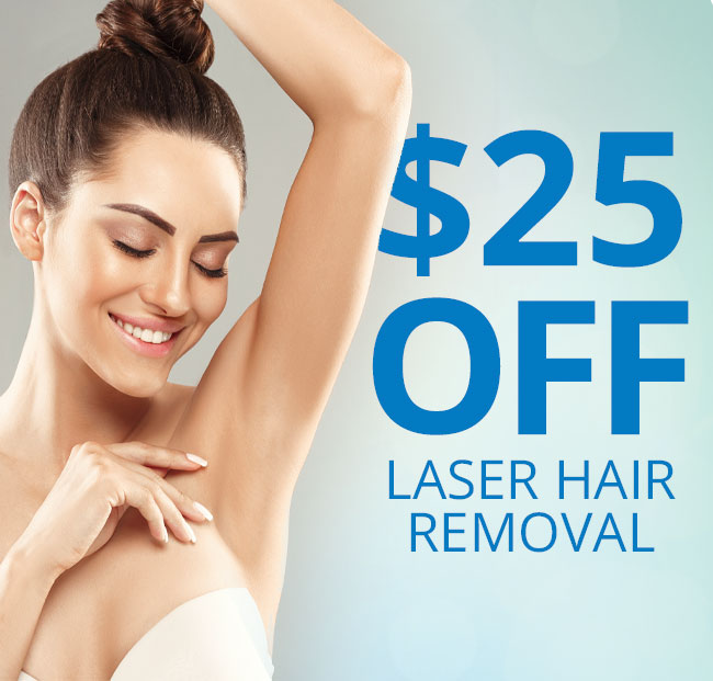 $25 OFF Laser Hair Removal